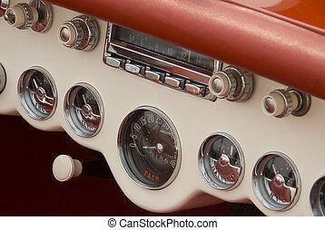 detalhe, clássicas, car