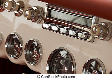 Detail of a classic car - Close up detail of a classic car...