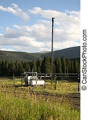 Mountain Flare 1 - Natural Gas flare system with H20...
