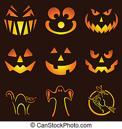 Jack O Lanterns - Nine Glowing Jack O Lantern Designs