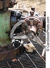Leaking wellhead valve - Leaking valve on oil wellhead....