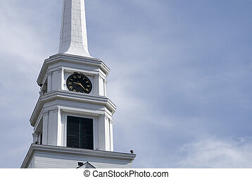 Church Spire - Typical New England Church Spire in...