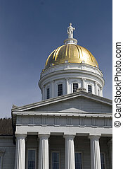 State Capitol, Montpelier Vermont - The gold topped state...