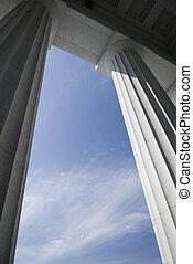 Corinthian Columns - State Capitol, Montpelier Vermont -...