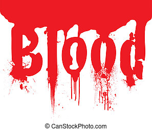 header blood dribble text - Pool of blood with the word...