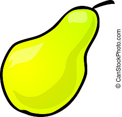 Pear - Sketch of a pear. Hand-drawn lineart look...