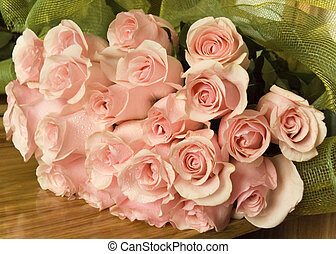 Bouquet of roses - Bouquet of tender cream roses with the...