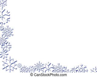snowflake border - Snowflake border