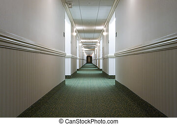 Hotel hallway - A hotel hallway Vanishing point perspective...