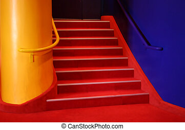 theatrical stairs - photo illustration of a colorful...