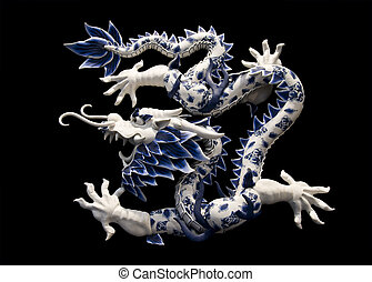 CHINESE DRAGON - dragon with black background