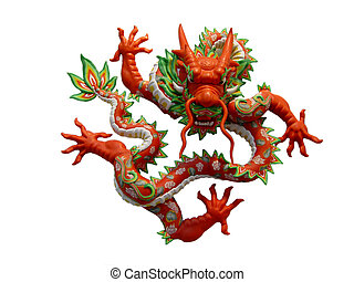 CHINESE DRAGON - dragon with white background