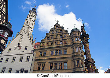 The Tower and town hall, Rothenburg, Germany - The Tower and...