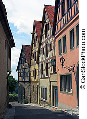 Rothenburg street scene, Germany