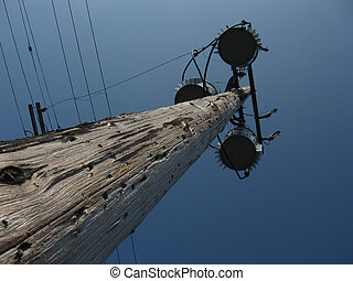 Utility pole and fixtures - wooden utility poles and...
