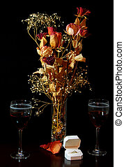 Engagement Still Life - Engagement still life setting with...