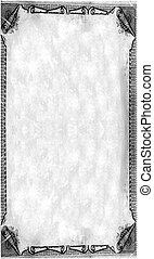 Royalty paper - Blank beautiful scrolled edging paper