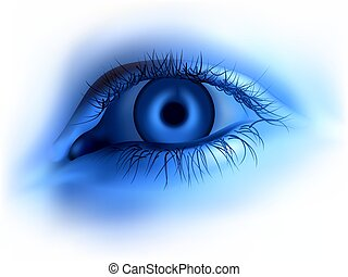 Blue human eye - Highly detailed illustration