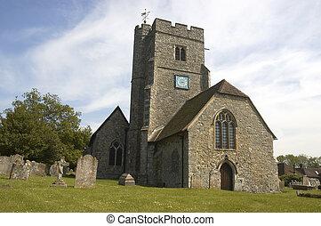 Rural church - A rural church with blue sky in Kent,England