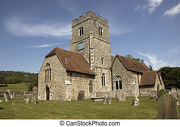 Rural church - A rural church with blue sky in Kent,England