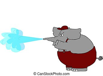Elephant Pressure Washer - This illustration depicts an...