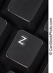 computer Z key - black computer keyboard close up