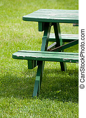 bench and lawn
