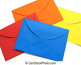 Colorful envelope - 3 - A series of four bright envelopes...