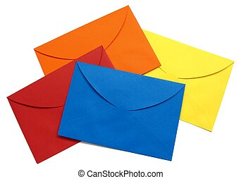 Colorful envelope - 4 - A series of four bright envelopes...