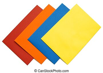 Colorful envelope - 5 - A series of four bright envelopes...