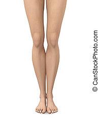 Bare Feet - 3D rendered Illustration.