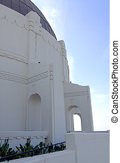 Griffith Observatory - archways surrounding center dome of...