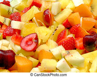 Fresh fruit salad - Close-up of an healthy fresh fruit salad