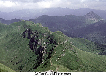 Auvergne - Mountains and old volcanos in the french region...