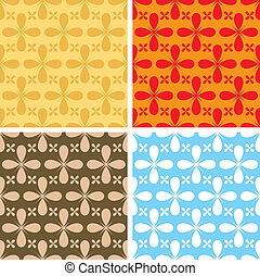 bloat repeat multi - illustrated seventies style wallpaper...