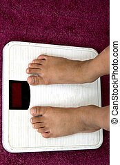 Diet Control - Checking own weight a concept of diet control