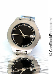 Male wrist watch - A male wrist watch isolated against a...