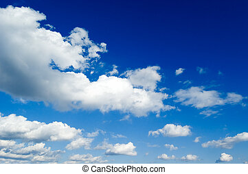 The white clouds. - The white clouds on blue sky.