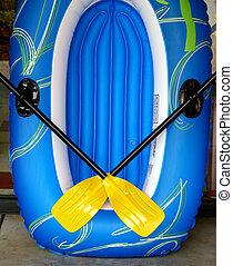 Blue Raft Yellow Oars