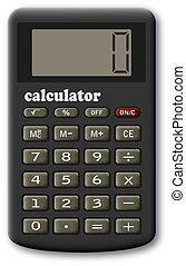 The financial calculator. A raster vector illustration. It...