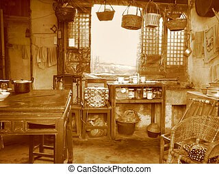 Very old style kitchen in China