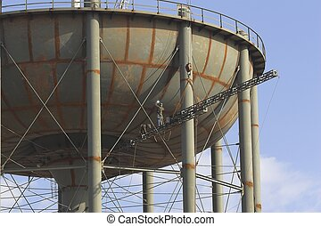 Water Tower Construction 5 - New city water tower under...