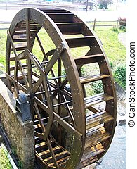 Waterwheel - A waterwheel in Findlay Lake, NY.