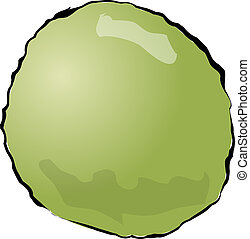 Guava - Sketch of a guava. Hand-drawn lineart look...