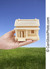 real estate - house on hand (special photo toned photo...
