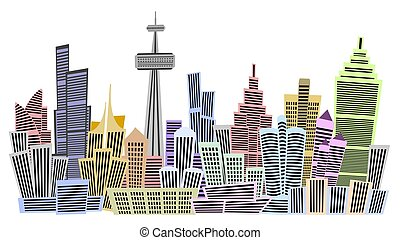 Multi Storied Buildings - An colorful illustration of multi...