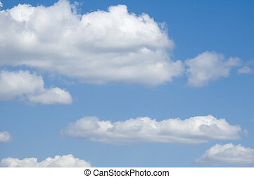alto-stratus  - leaden clouds. grey clouds and blue sky