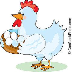 mãe, galinha