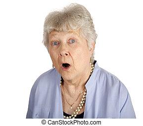 Shocked Senior Lady