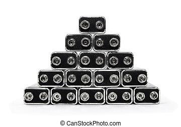 baterias, piramide